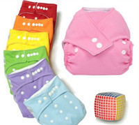 Wholesale Wholesale Cheaper Diaper - Plain color Baby Diapers +Inserts Cheaper Baby Diapers Babyland Cloth Diaper Pockets
