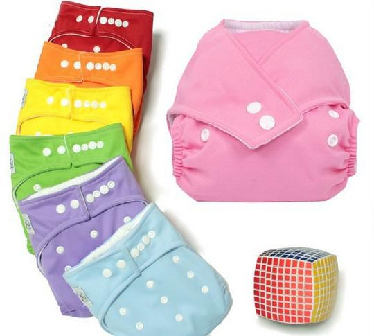 Plain color Baby Diapers +Inserts Cheaper Baby Diapers Babyland Cloth Diaper Pockets