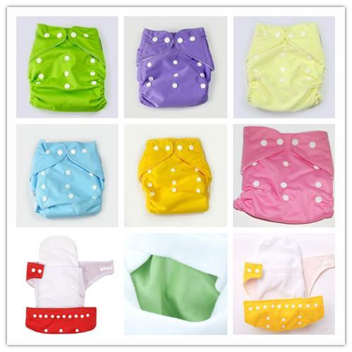 Plain cor Baby Fraldas + Inserções Mais Barato Baby Fraldas Babyland Pano Fralda Pockets