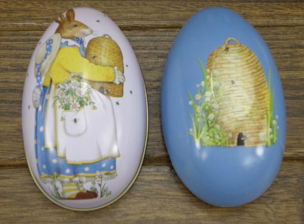 Decorazione di Pasqua Cabochons Fashion Pasqua Easter Uova di Tin Candy Box Scatola di immagazzinaggio 8 tutti i pattens disponibili ora