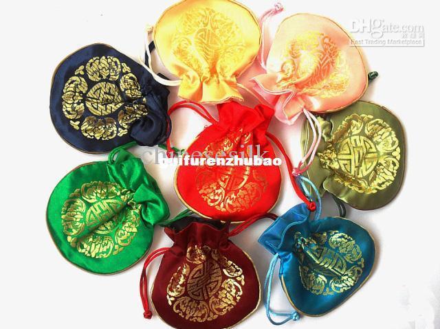 Mini Zijde Brocade Joyous Sieraden Gift Tassen Luxe Chinese Stijl Drawstring Candy Pouch Wedding Party Gunst /
