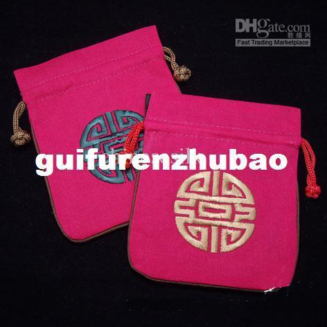 China Jewelry Pouch Jewellery Bag Trinket Bag Fashion Linen Drawstring Jewelry Bag 100pcs mix Free