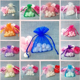 Wholesale Organza Gift Bags Cheap - 6%off!2015new arrival,cheap! 7 * 9cm 100 pcs   Luxury Organza Jewelry Pouches Gifts Bags For Ring Wedding Gifts