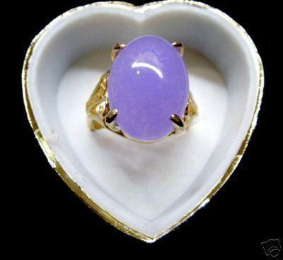 Bague en perles de jade 18KGP de couleur rose-violet-vert-rose fine (# 6,7,8,9,10)