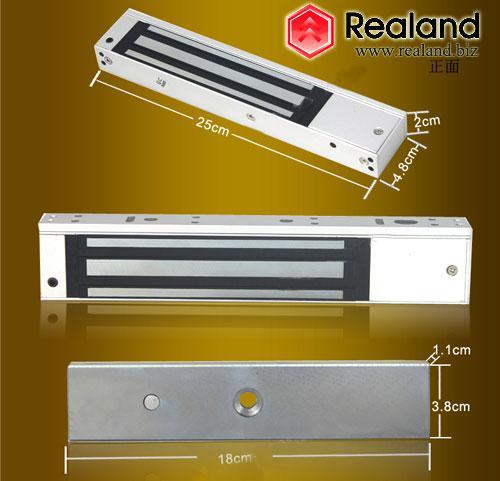 top popular Electric Magnetic Door Lock 280kg 600lbs electromagnet Holding Force For Wooden Glass Metal Door 2021