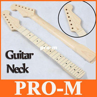 Wholesale Strat Necks - Guitar Maple Neck Replacement ST Strat Stratocaster Electric Guitar Maple Neck Fingerboard DHL Free Dropshipping