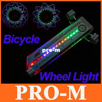 16 LED Flash Bike Bicicleta Carro Motocicleta Tire Válvula Roda Spoke Light H8084 Livre / Dropshipping