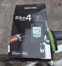 Bike 4 Bicycle Mount Holder Stand Tough Case Waterproof Cover for Appel iphone 4 iphone4