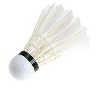 kaz tüyü badminton toptan satış-YENI Top Oyunu Spor Eğitimi Beyaz Kaz Tüyü Shuttlecocks Birdies Badminton 70 hız