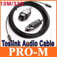 Wholesale Digital Audio Optical Fiber Optic - 33FT(10M) Digital Optical Optic Fiber Toslink Audio Cable OD2.2mm AV Cable Free Shipping