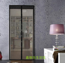 Wholesale Mosquito Netting Retail - Retail Magic Sheer Curtains Mesh Insect Door Curtain Pet Fly Mosquito Screen Hands Free Magnets Net 100 * 200