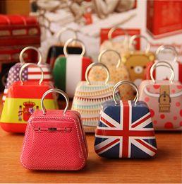 Wholesale Earring Box Bag - New Handbag bag mini storage small box coin box jewlery earring box candy box tin box wedding favor