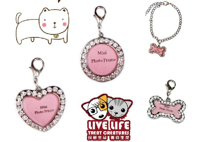 New Bone/round/heart Style Alloy Pet Dog Cat ID Card Tags Necklace ...