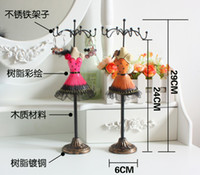Wholesale Dress Jewelry Stands - Elegant Mannequin Jewelry Dsiplay Princess Dress Jewelry Holder Shelf Jewelry Stand Girl's Gift CL4
