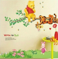Wholesale Tigger Wall - lovely fashion PoP colorful Cartoon Winnie Bear and Tigger Wall Sticker Home Decor Room children Kid