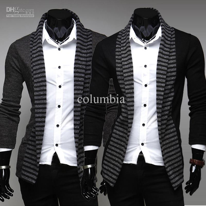 2018 2585# New Hot Spring Men'S Sweaters Men'S Long Sleeved Streak ...