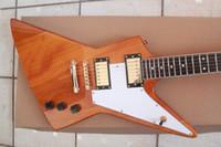 Wholesale Electric Guitar Yellow - New geibushen1958 korina explorer electric guitar profiled yellow