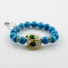 Wholesale Gemstones Stretch Bracelets - night owl gemstone stretch bracelets gemstone charm bracelet Spsb0161TC0 Fashion necklaces gemstone stones necklace