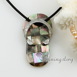 Wholesale Cheap Seashell Jewelry - slipper patchwork seashell pendants wholesale shell jewelry mother of pearl shell pendant 100% handmade jewelry cheap fashion jewelry