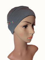 Wholesale Wholesale Chemo Hats - High quality Breathable soft Bamboo Headgear women turban Wig accessory Chemo hat Breast cancer hair loss bandana hat
