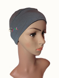 Wholesale High Quality Red Wig - High quality Breathable soft Bamboo Headgear women turban Wig accessory Chemo hat Breast cancer hair loss bandana hat