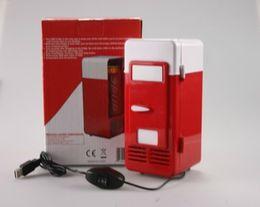 Wholesale Black Car Cooler - lovely black red New Mini USB Fridge car USB Cooler Warmer USB Gadget USB Refrigerator