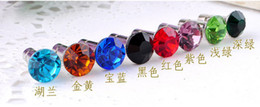 Wholesale Earphones Colour - 15PCS Mixed colours crystal earphone dustproof plug stopper#22759