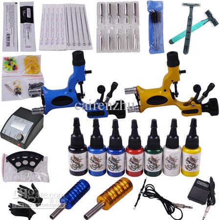Rotary Tattoo Machine Gun Kits LED Power Supply Ink Set YLT 17 Tattoo  Equipment And Supplies Tattoo For Sale From Cairenzhu, $79.17| DHgate.Com