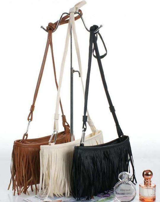 Hot Faux Suede Fringe Tassel Shoulder Bag Womens Handbags ...