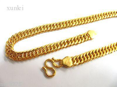 Online Cheap Solid 24k Yellow Gold Necklace Chain Mens Chain