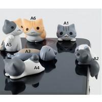 Wholesale Dust Plugs For I Phones - 3.5mm Lovely Cat Anti Dust Earphone Plug Headset Stopper Cap For i Phone 4 4S 5
