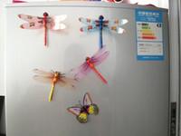 Wholesale Wholesale Refrigerator Magnet - Simulation Dragonfly Fridge Magnets stylish appearance lifelike Refrigerator magnets Home Decor