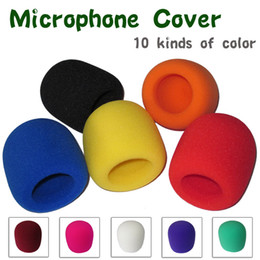microphone cover foam NZ - FREE SHIPPING 10pcs LOT On Stage Microphone Windscreen Foam Cover - Grill Cover Audio Mic Shield Microphone Windscreen Sponge Cover