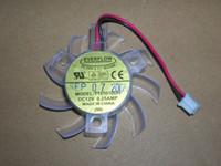 Wholesale vga cooler fans online - PC graphics card cooling fan EVERFLOW T125010DH DC12V A wires VGA FAN