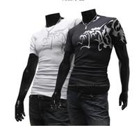 Wholesale Free Wolf Tattoos - 2013 free shipping men's t-shirts Short sleeve round neck shirts ambition Wolf tattoos