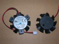 Hot selling PC graphics card cooling fan EVERFLOW:T124010DL (ZI1W8aR) DC12V 0.1A 2-wires VGA FAN