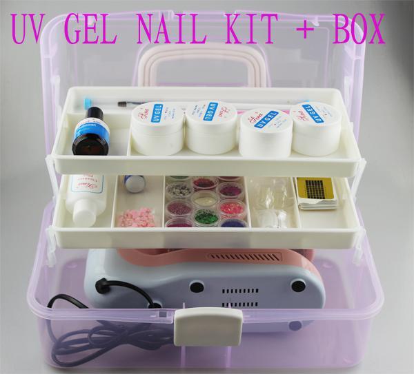Rotate 9w Uv Gel Builder Gel Nail Set + Box Excellent Quality Free ...