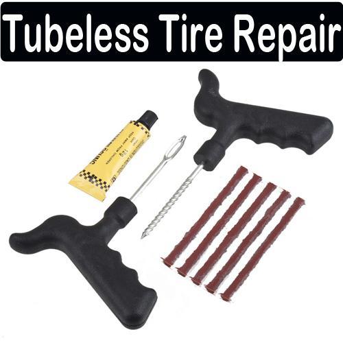 / Venta al por mayor Coche Bicicleta Auto Tubeless Neumático Neumático Punción Tapón Reparación Kit de herramientas de cemento Seguridad
