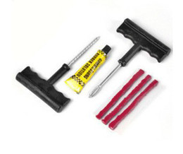 Wholesale Auto Repair Kits - 10 sets  lot Wholesale 6PCS SET Car Auto Tubeless Tire Tyre Puncture Plug Repair Kit