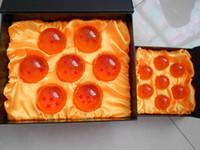 dragonball z yıldız seti toptan satış-Animasyon DragonBall 7 Yıldız Kristal Top 7.6 cm Yeni Box Dragon Ball Z Komple set oyuncaklar 7 adet set klasik oyuncaklar için chlidren stokta