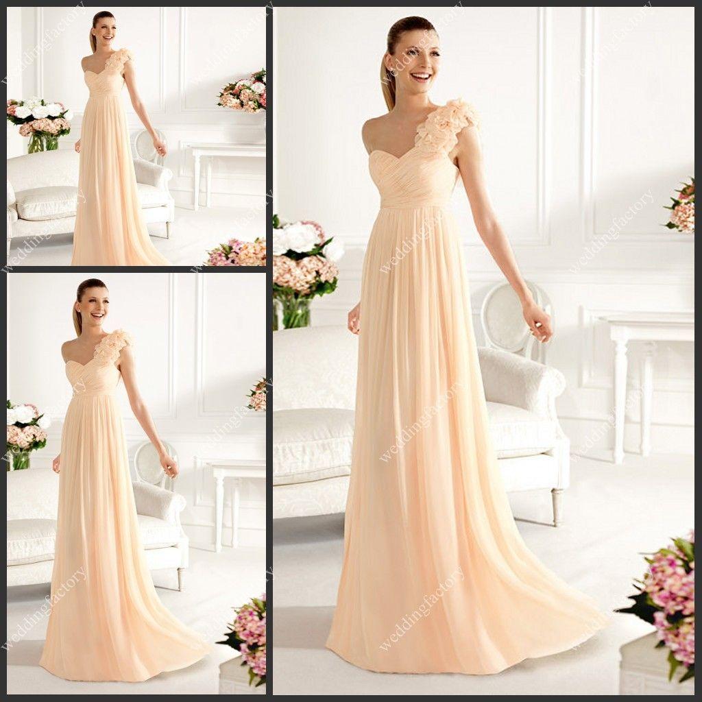 Ziemlich Eine Schulter Kleid Brautjungfer Zeitgenössisch ...