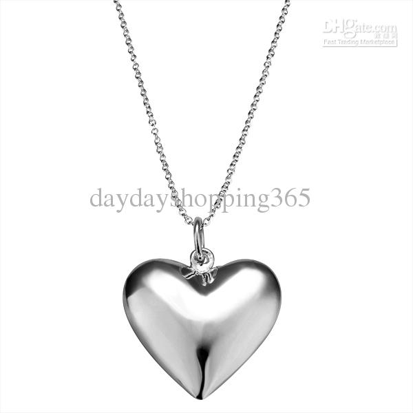 Worldwide jewerly heart pendant 925 silver pendant roll chain jewerly heart pendant 925 silver pendant roll chain necklace nn055 heart 925 silver necklace online with 456piece on daydayshopping365s store dhgate aloadofball Images