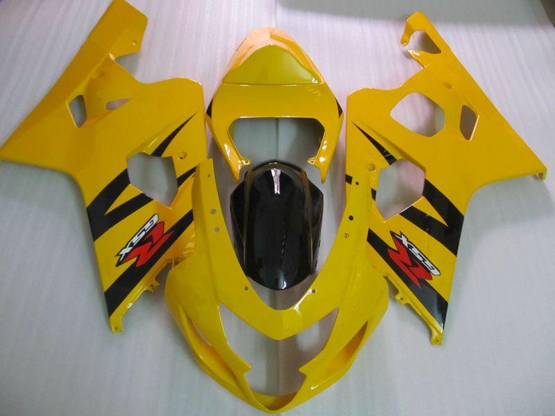 För Suzuki 2004 2005 GSX-R600 GSXR 750 600 04 05 GSXR600 K4 Yellow Black Fairing 64Z18