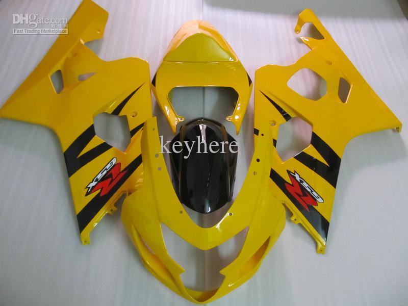 Suzuki 2004 2005 GSX-R600 GSXR 750 600 04 05 GSXR600 K4イエローブラックフェアリング64Z18
