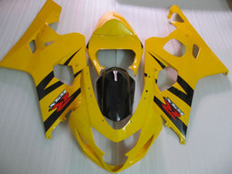 For Suzuki 2004 2005 GSX-R600 GSXR 750 600 04 05 GSXR600 K4 Yellow Black Fairing 64Z18