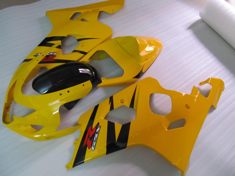 Para Suzuki 2004 2005 GSXR600 GSXR 750 600 04 05 GSXR600 K4 Amarelo Preto Fairing 64Z18