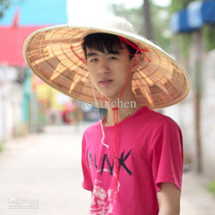 Bamboo Chinese Fan Palm Hats Summer Big Sun Shading Hat Fishing Cap Male  Sun Hat Beanie Hats Winter Hats From Xiaoguichen b765335f164
