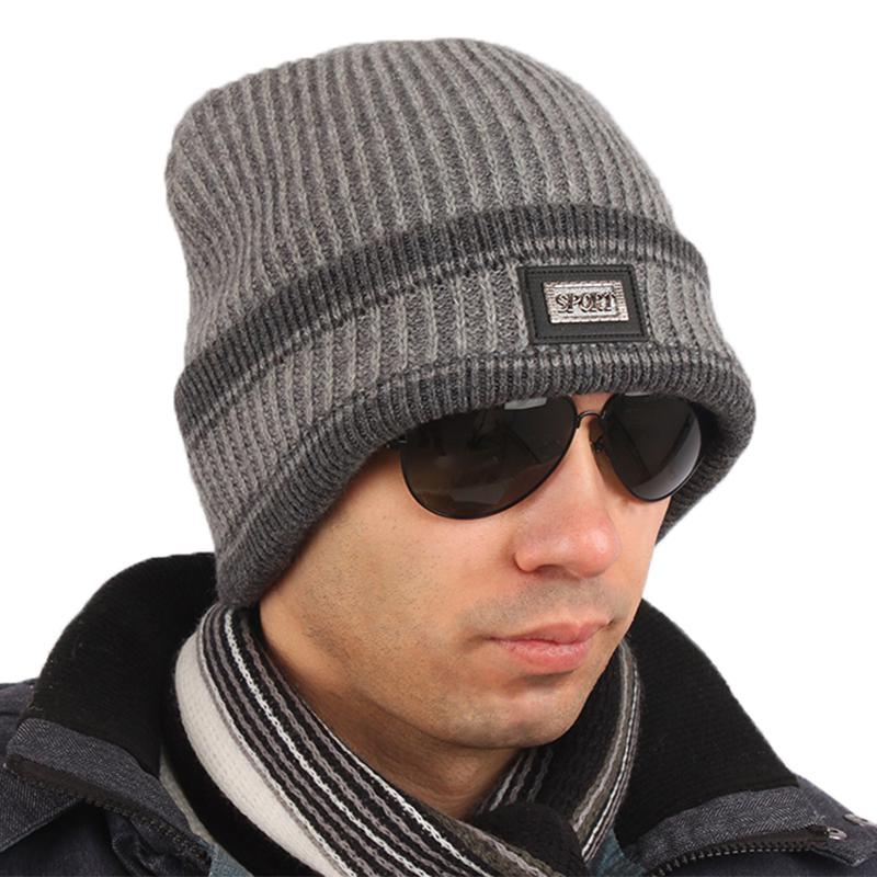 Male Pitfall Knitted Hat Winter Trend Of The Cold Cap ...