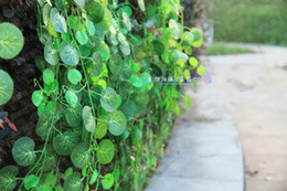 Wholesale Climbing Plants - Home garden fence decoration Artificial Climbing vines Geen Plants Artificial silk plastic begonia free shipping
