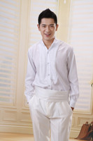 Wholesale New Style White Men Wedding Prom Groom Shirts Wear Groomsmen Shirt A118